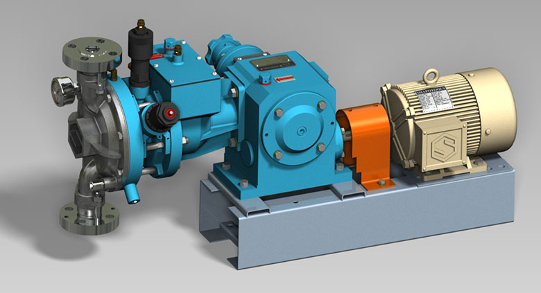 PVDF Lined Glandless Hydrailic diaphragm Pumps